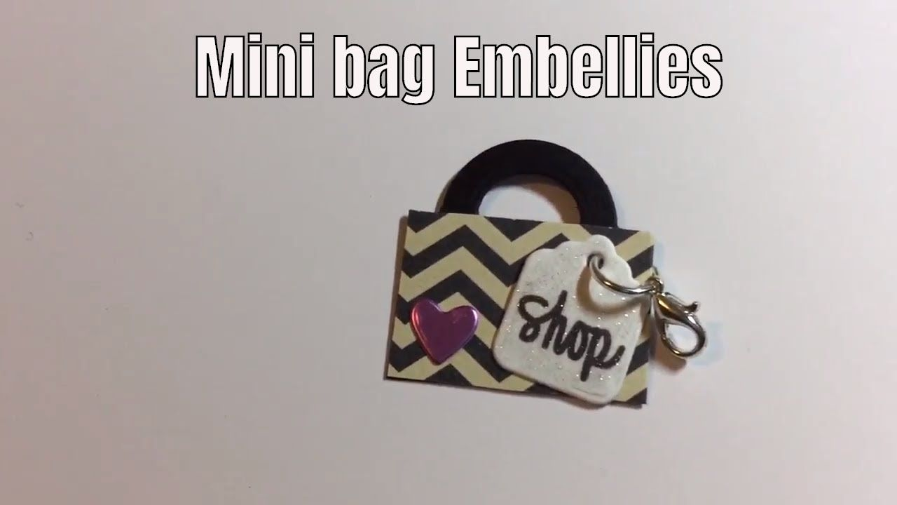 Scraps to mini shopping bag clip on Embellies