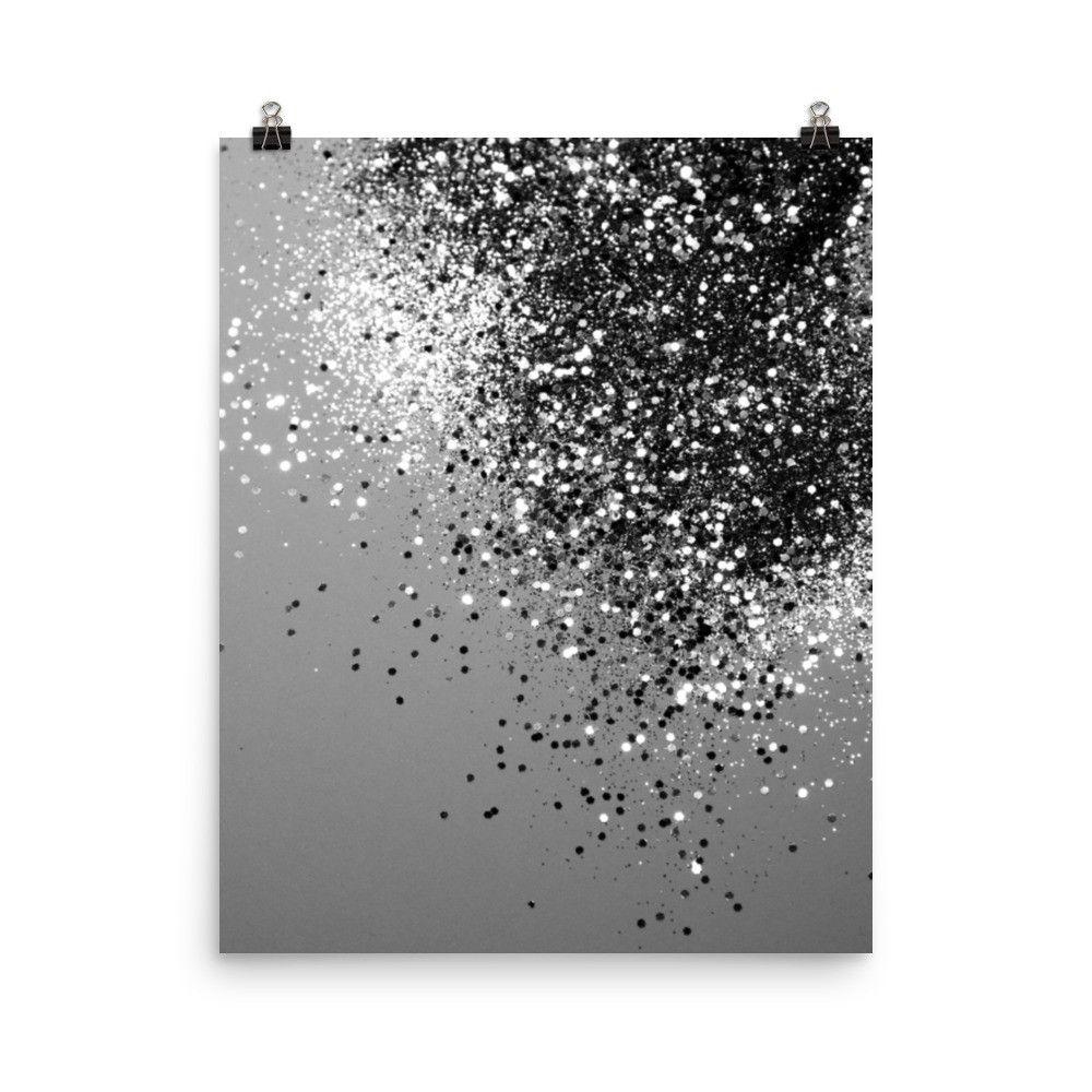 Sparkling Silver Gray Lady Glitter By Anita S Bella S Art Glitter Wall Art Glitter Art Art Prints