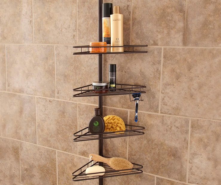 Oil Rubbed Bronze 4 Shelf Shower Pole Caddy At Lots