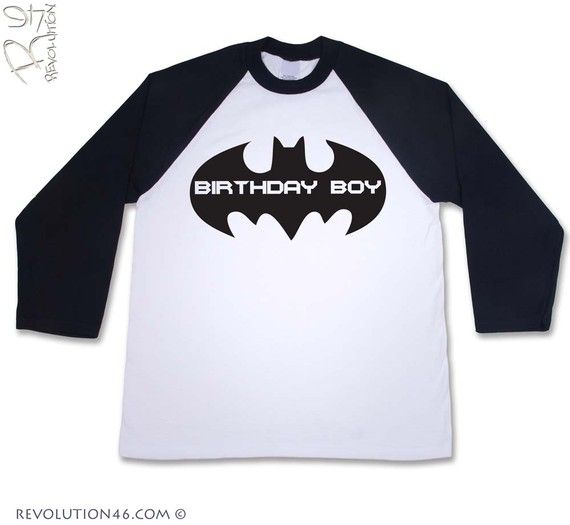 Baseball batman... LOVE it!! I need this for Grey this summer!! Maybe put the #6 on the back! ;)