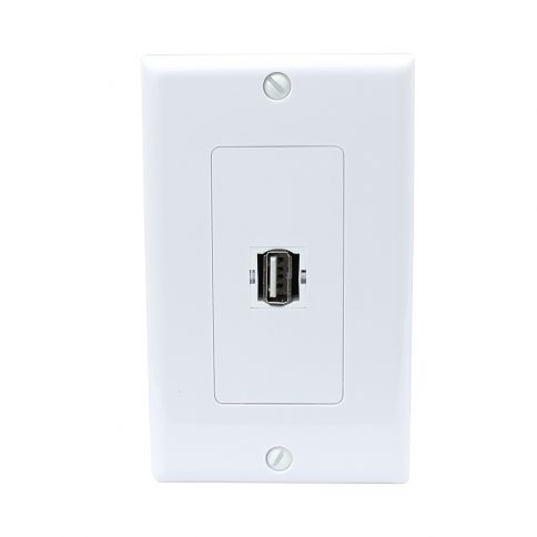 Usb 1 Ports Wall Socket Charger Receptacle Outlet Plate Panel Dock Station Outlet Plates Plates On Wall Sockets