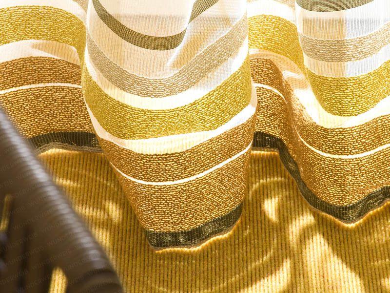 Trendfarben Sonne Im Haus Vorhang Und Teppichboden In Senfgelb
