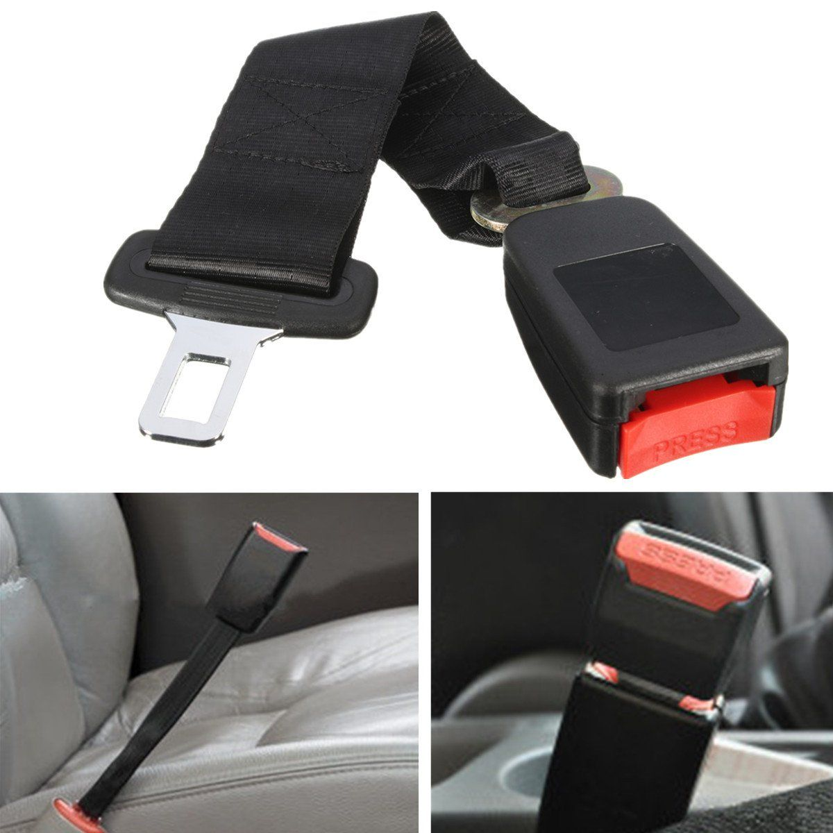1Pcs 14 Inch Polyester Safety Belt 7/8 Inch Buckle Seat