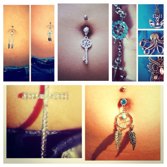 This SCREAMS summer for me! I want them all! #bellyrings