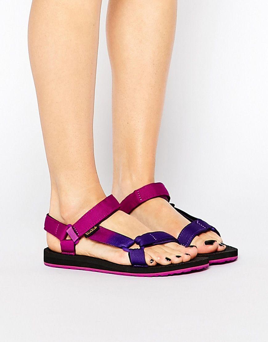 7164957f4 Image 1 of Teva Original Universal Gradient Flat Sandals
