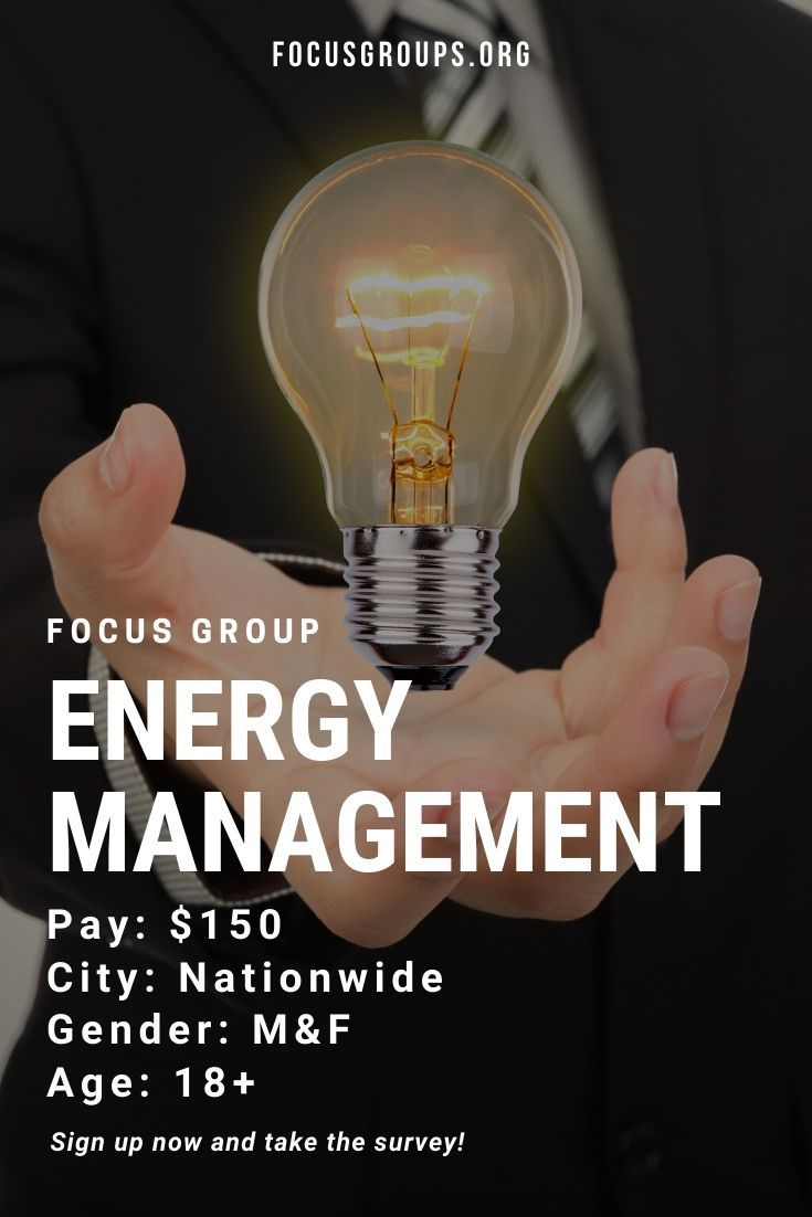 Focus group on energy management energy management