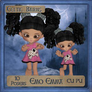 Gumdrops - Emo Emma $2.00 Please Choose: Download0101   Add to Cart:   Add to Cart Product model: CELTICBAIRNS 1000Product quantity: Manufactured by: Celtic Bairns  A set of 10 Emolicious gumdrops looking radiant in her pink emo dress   This is a set of 10 Commercial Use tubes, they are full sized with a 300dpi resolution. #emodresses