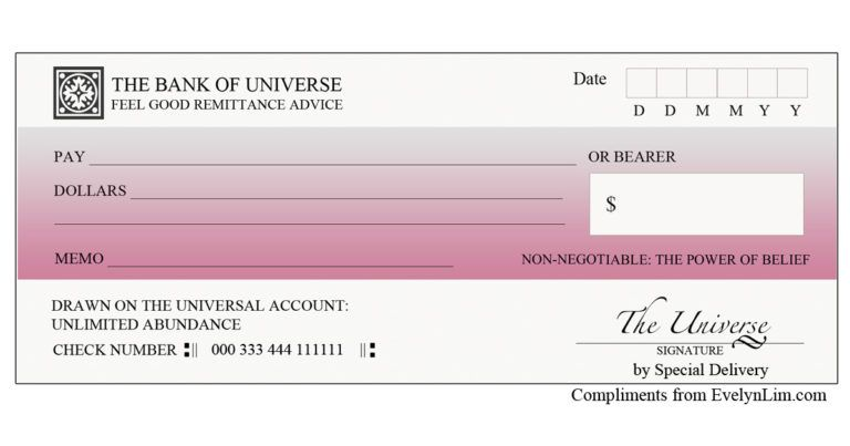 This is a photo of Printable Abundance Check within official