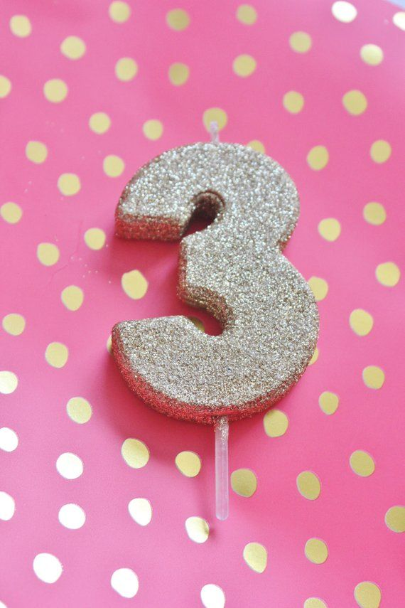 2 GLITTER GOLD CANDLE Number Numeric Birthday Cake Candles 1st 2nd 3rd 4th 5th 6th 7th 8th Kids Birt