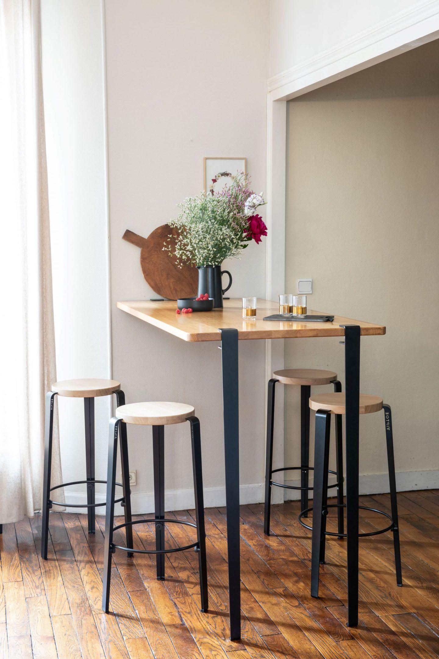 Pied Pour Table Bar Et Mange Debout Tiptoe Serre Joint