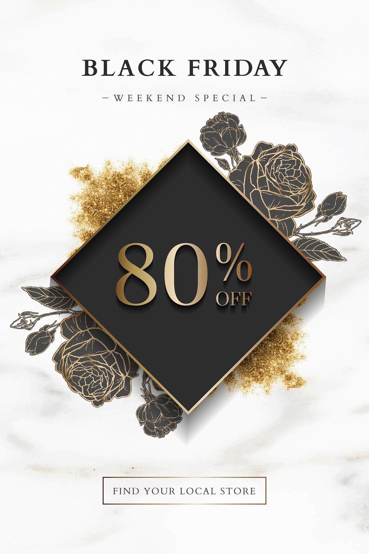 Download Premium Vector Of Black Friday 80 Off Sale Sign On Marble Black Friday Black Friday Design Black Friday Weekend