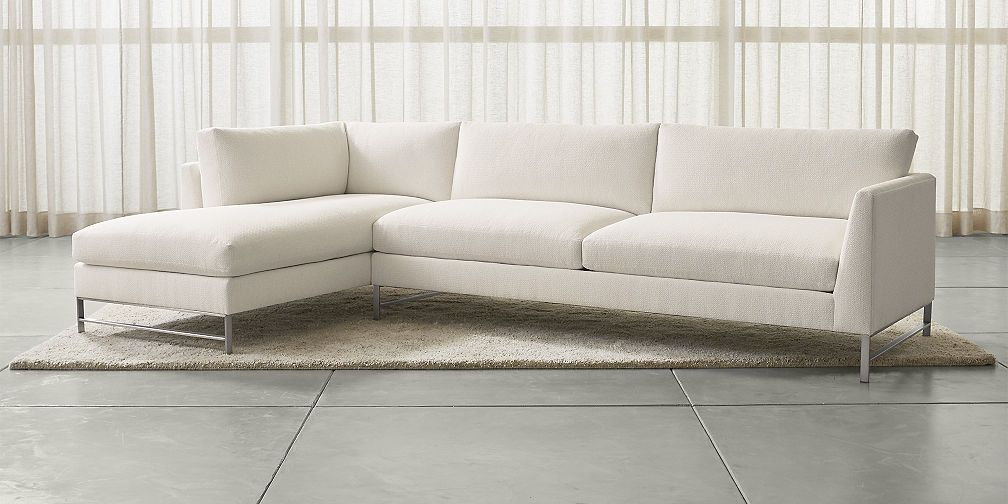 Genesis Sectional Sofas With Stainless Steel Legs Living