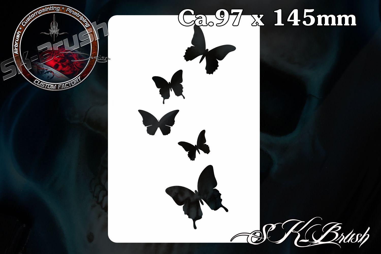Minis Schmetterlinge Airbrush Schablone - Stencil Butterfly ...