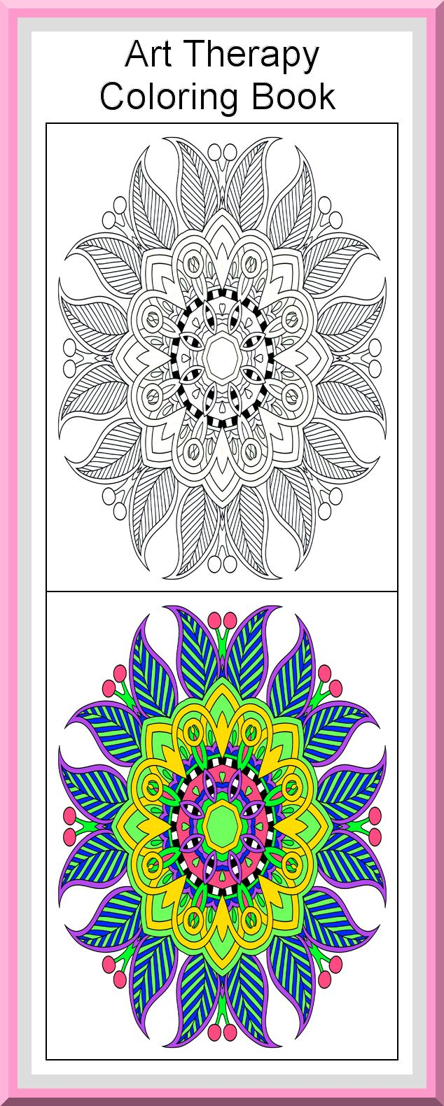 Coloring book outlines - Art Therapy Coloring Book 30 Printable Coloring Pages Outlines Color Examples Instant Download Art Therapy Coloring Pages