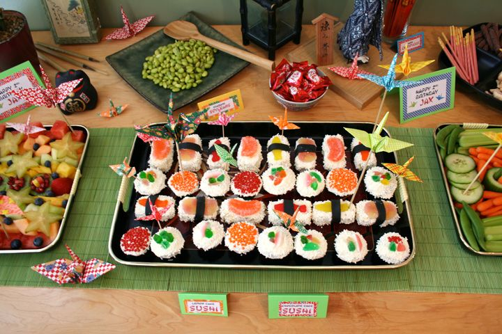 Marvelous Sushi Dinner Party Ideas Part - 13: Jacksonu0027s 2nd Birthday - Sushi Party