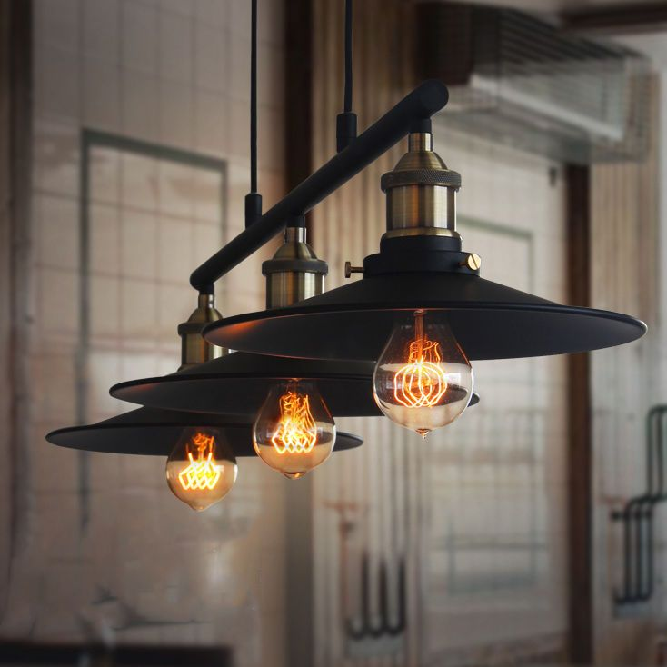 Retro Hanging Ceiling Light Vintage Industrial Pendant Retractable Pulley Lamp In Home Furniture Amp Diy Hanging Ceiling Lights Ceiling Lights Pulley Lamps