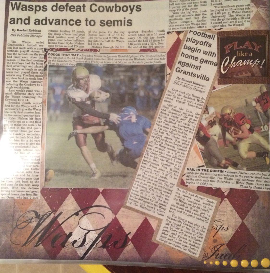 How to scrapbook newspaper clippings - Scrapbook Ideas University Sports Scrapbook Scrapbook With Newspaper Clippings Football Scrapbook Layouts