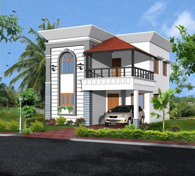 front design of duplex house in india