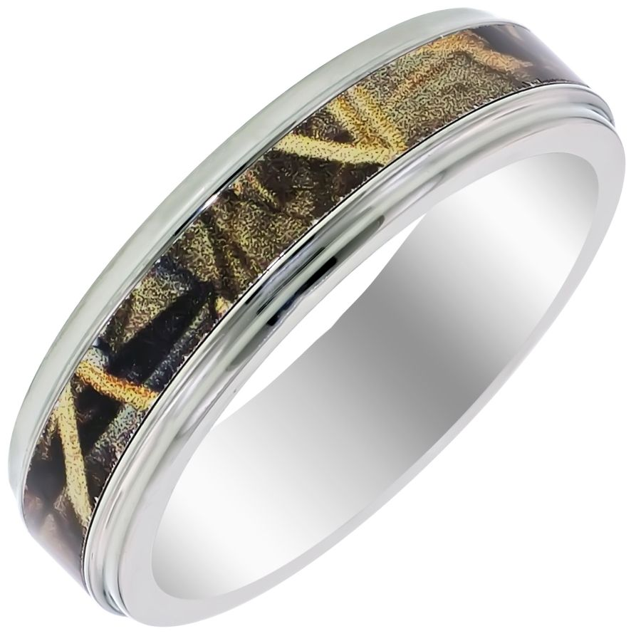 Mens Camo Wedding Rings