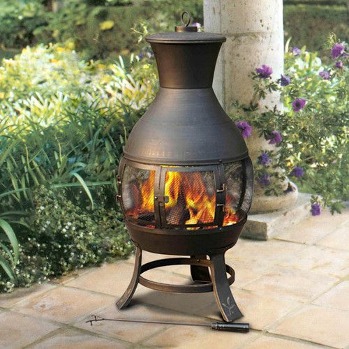 Found It At Wayfair Clementine Steel Wood Chiminea Outdoor
