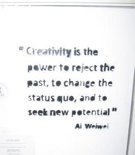 Ai Weiwei.......YES!!! This artist is so important in today's world! Such an inspirational person! K