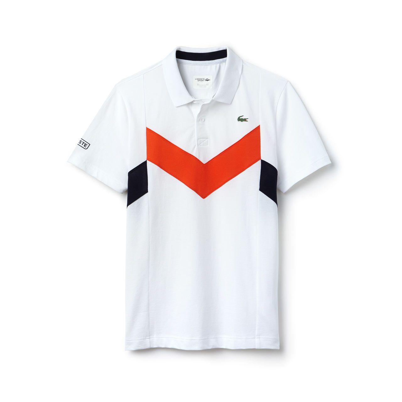 Polo Tennis Lacoste Sport En Mailles Ultra Legeres Color Block Lacoste Style Decontracte Pour Hommes Vetement Sport Le Polo
