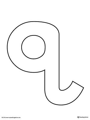 image relating to Letter Q Printable titled Lowercase Letter Q Template Printable Letter Crafts