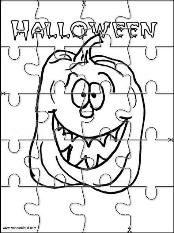Printable jigsaw puzzles to cut out for kids Halloween 20 Coloring ...