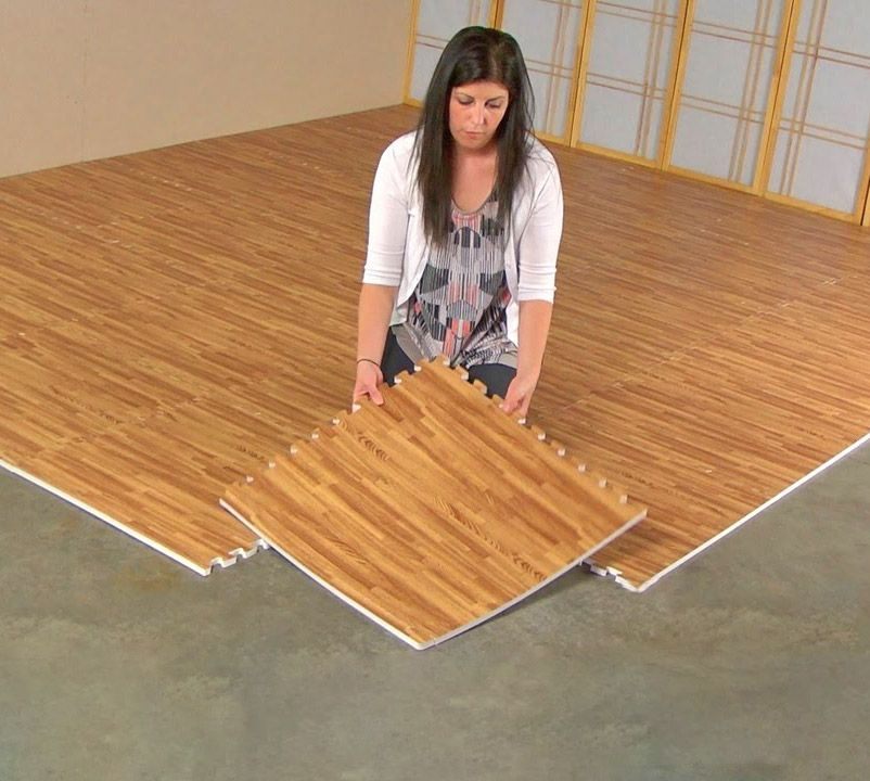 Faux Hardwood Floor Interlocking Foam