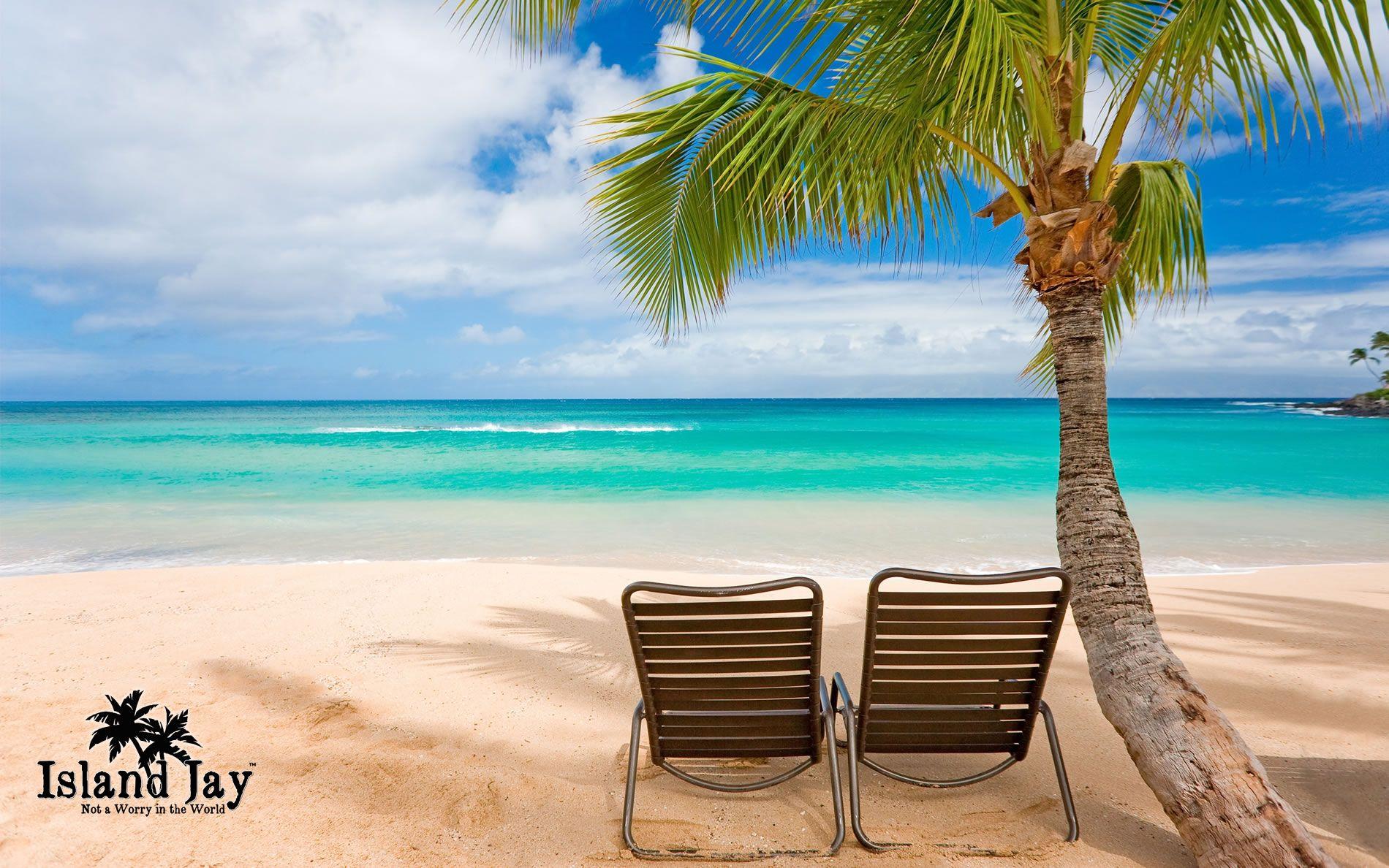 caribbean beach scenes | wallpaper – empty beach chairs on the ocean