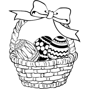 Easter Basket 02 Clipart Cliparts Of Easter Basket 02 Free Download Wmf Eps Emf Svg Png Gif Easter Coloring Pages Easter Colouring Funny Easter Pictures