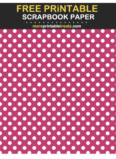 Dark Pink Polka Dot Scrapbook Paper Printable Scrapbook Paper Scrapbook Paper Pink Polka Dots