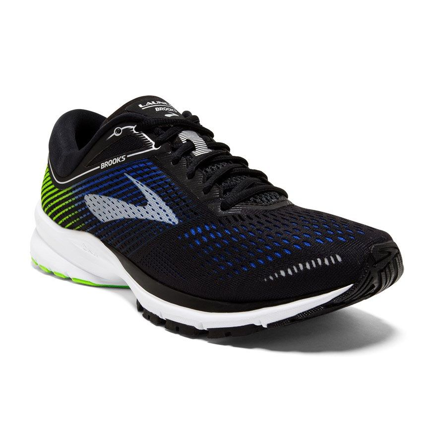 be8c761edd218 Men s Brooks Launch 5 (Black Blue Green) in 2019