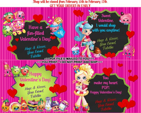 YOUR PRINT Kids Valentine Cards for Classroom by TAGSRUSCANADA – Valentine Cards for Classroom
