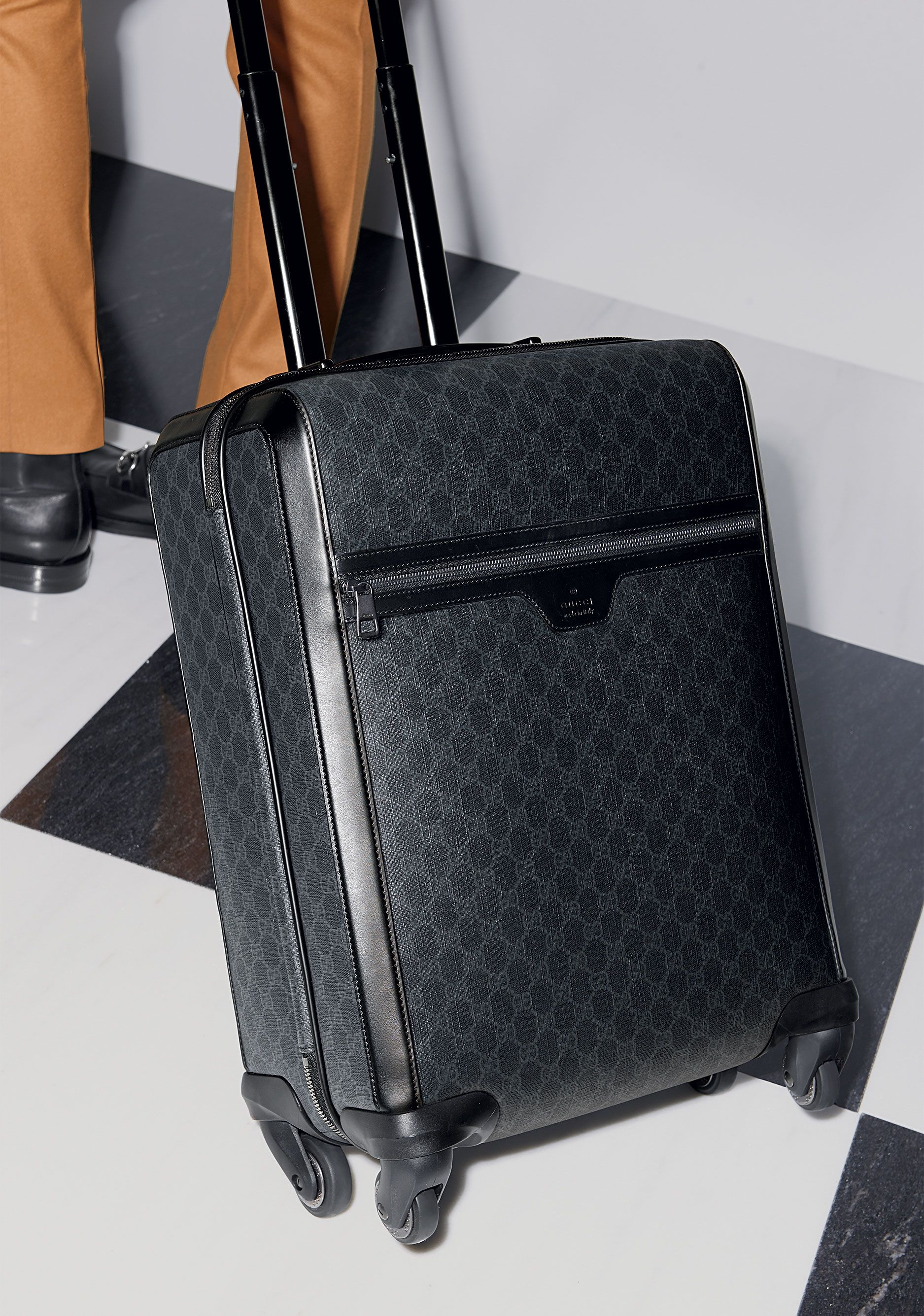 Gucci Pre-Fall 2014: GG Supreme Canvas Wheeled Carry-On Suitcase