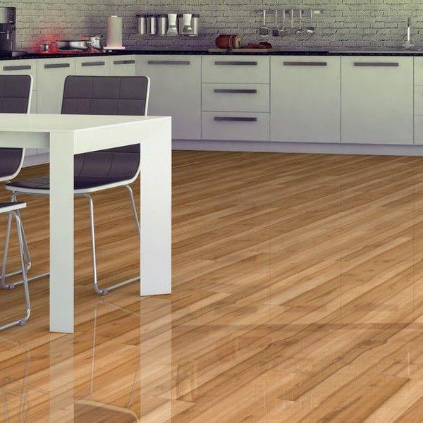 High Gloss Kitchen Floor Tiles: Seychelles Tropical Gloss Laminate Flooring 12mm