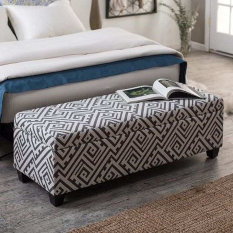 Modern Print Storage ottoman bench. www.rilane.com | Furniture in ...