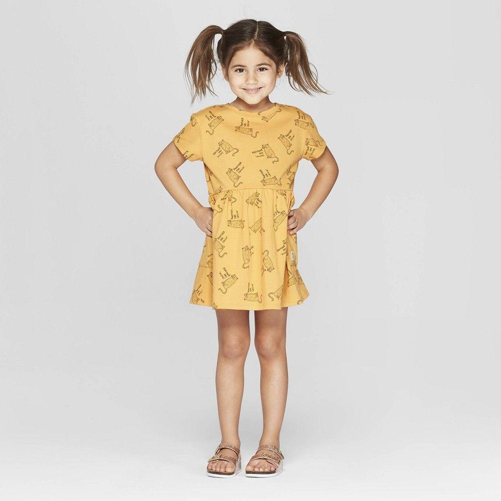 Toddler Girls Short Sleeve Cheetah T Shirt Dress Art Class Gold 5t In 2021 Art Dress Dresses T Shirt Dress [ 1000 x 1000 Pixel ]