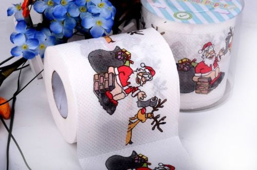3packs 30m/pack Christmas theme Paper napkin Toilet Roll Toilet