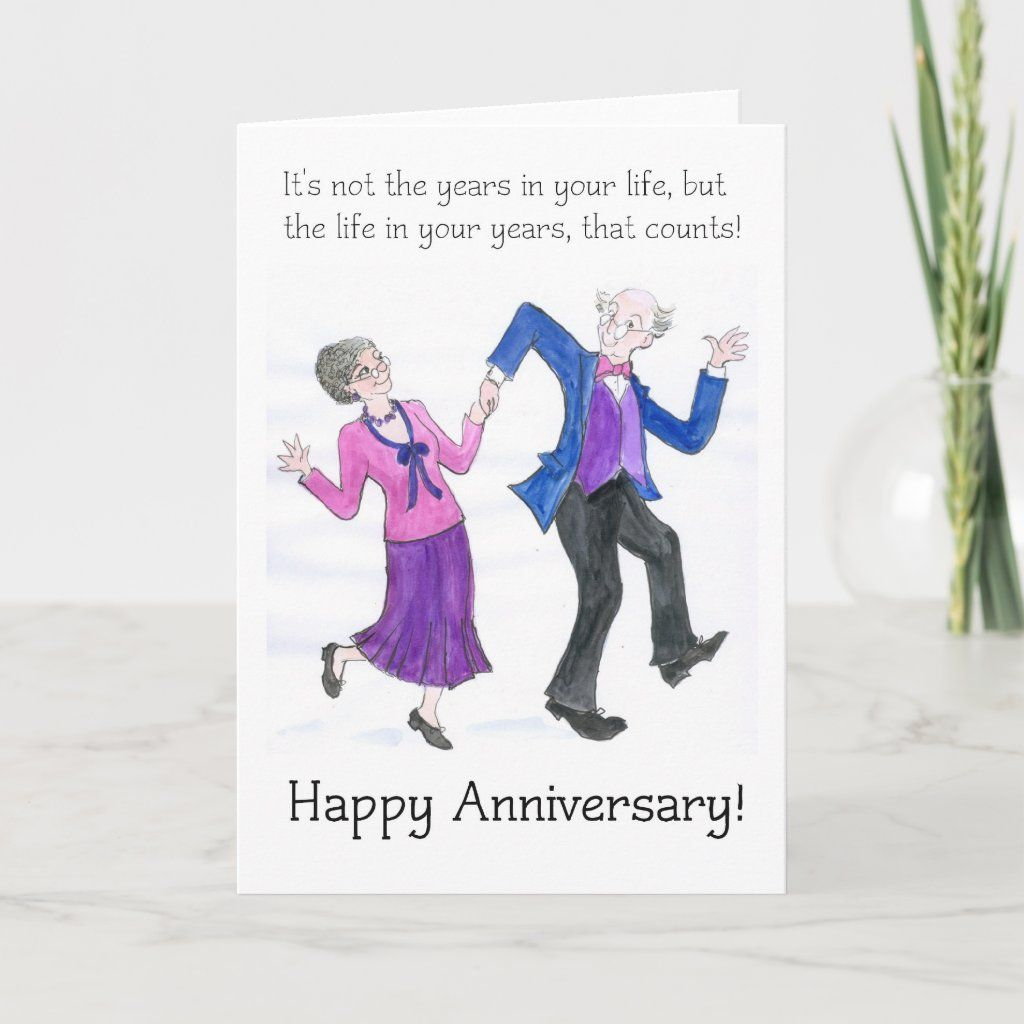 Anniversary Greeting Card For Older Couple Zazzle Com Wedding Anniversary Wishes Anniversary Greeting Cards Anniversary Quotes For Couple