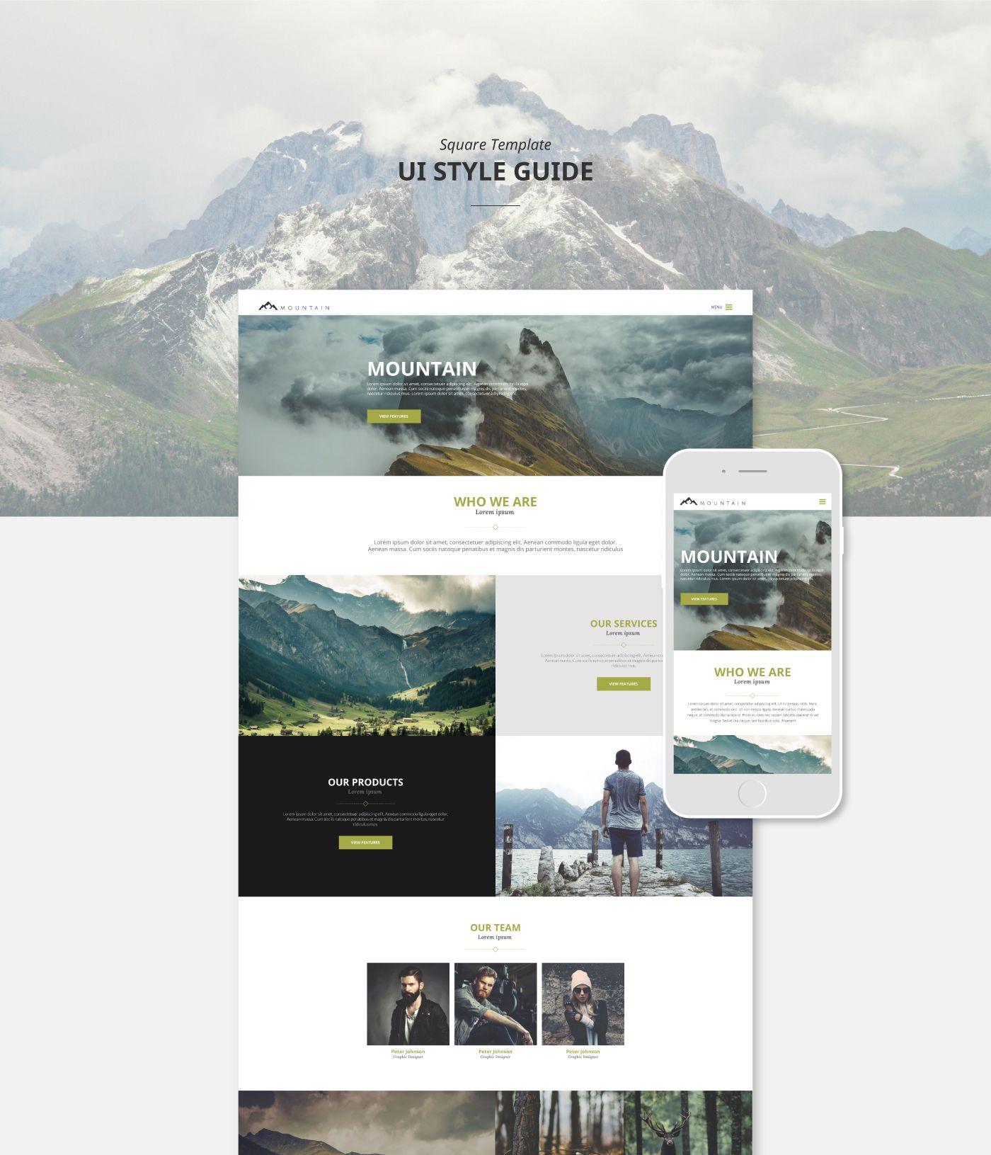 다음 @Behance 프로젝트 확인: \u201cSquare · Responsive Template\u201d https://www.behance.net/gallery/44754701/Square-Responsive-Template