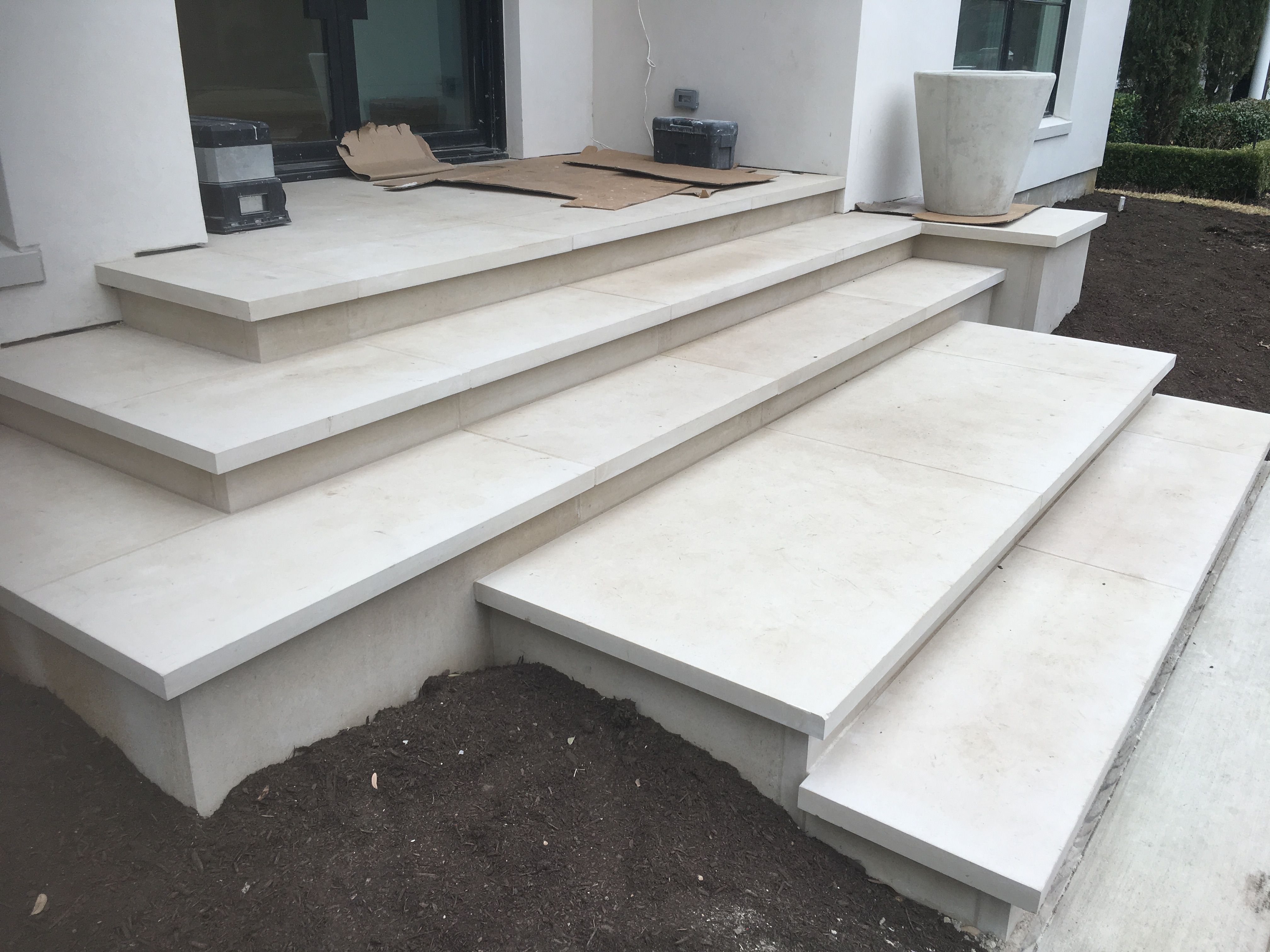 buff lueders stone as treads risers