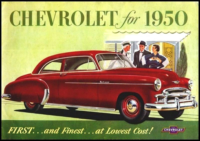 1950 Chevrolet Brochure 01 Car Ads Classic Cars Muscle Chevrolet