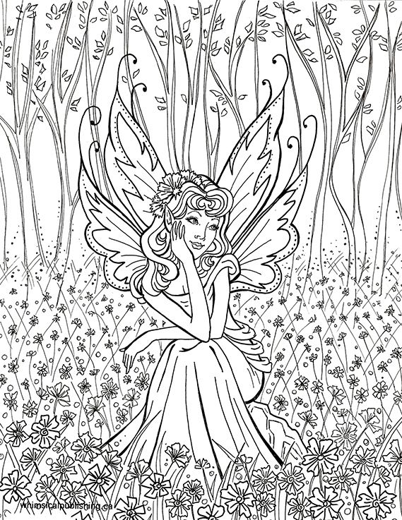 Detailed Fairy Coloring Pages For Adults | coloring pages for me ...