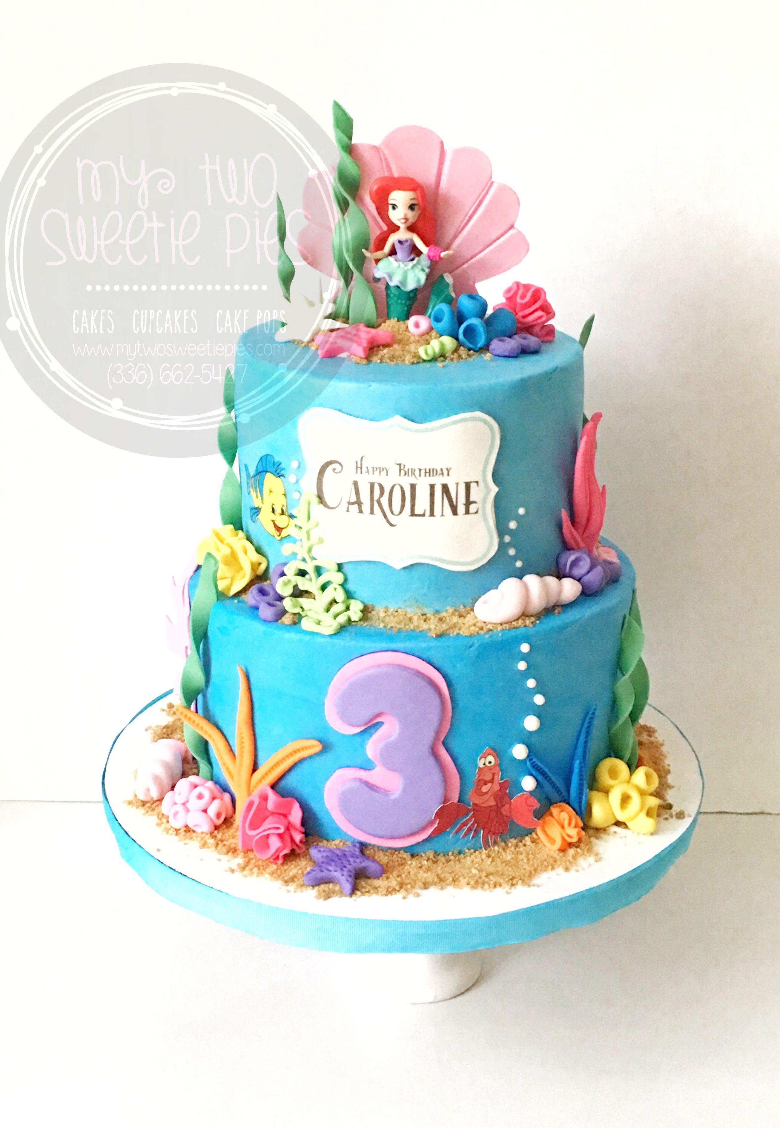 Fabulous The Little Mermaid Ariel Little Mermaid Birthday Cake Mermaid Birthday Cards Printable Giouspongecafe Filternl