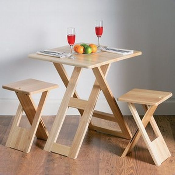 Simple Wooden Folding Furniture For Dining Space Table