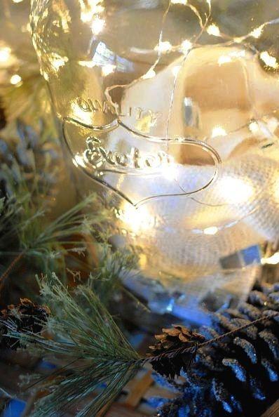 Fairy lights set mason jars a-twinkle. | Community Post: 19 Most Viewed Mason Jar Ideas Of 2013!