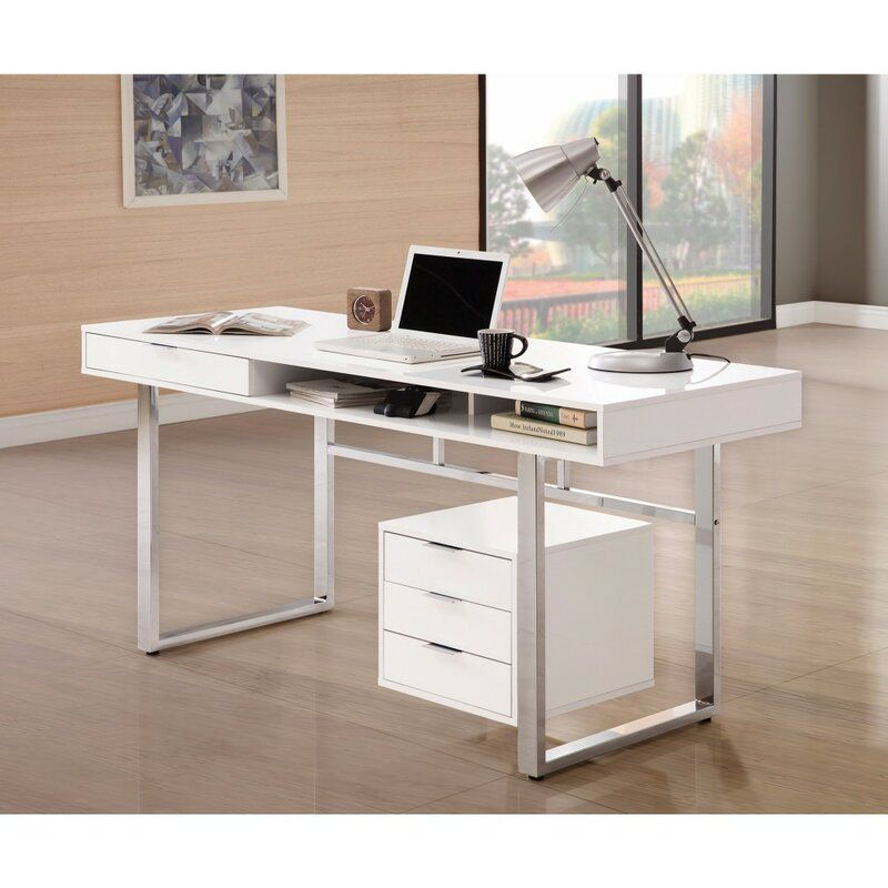 Marinescu Wooden Writing Desk White Writing Desk Wooden Writing Desk Contemporary Desk