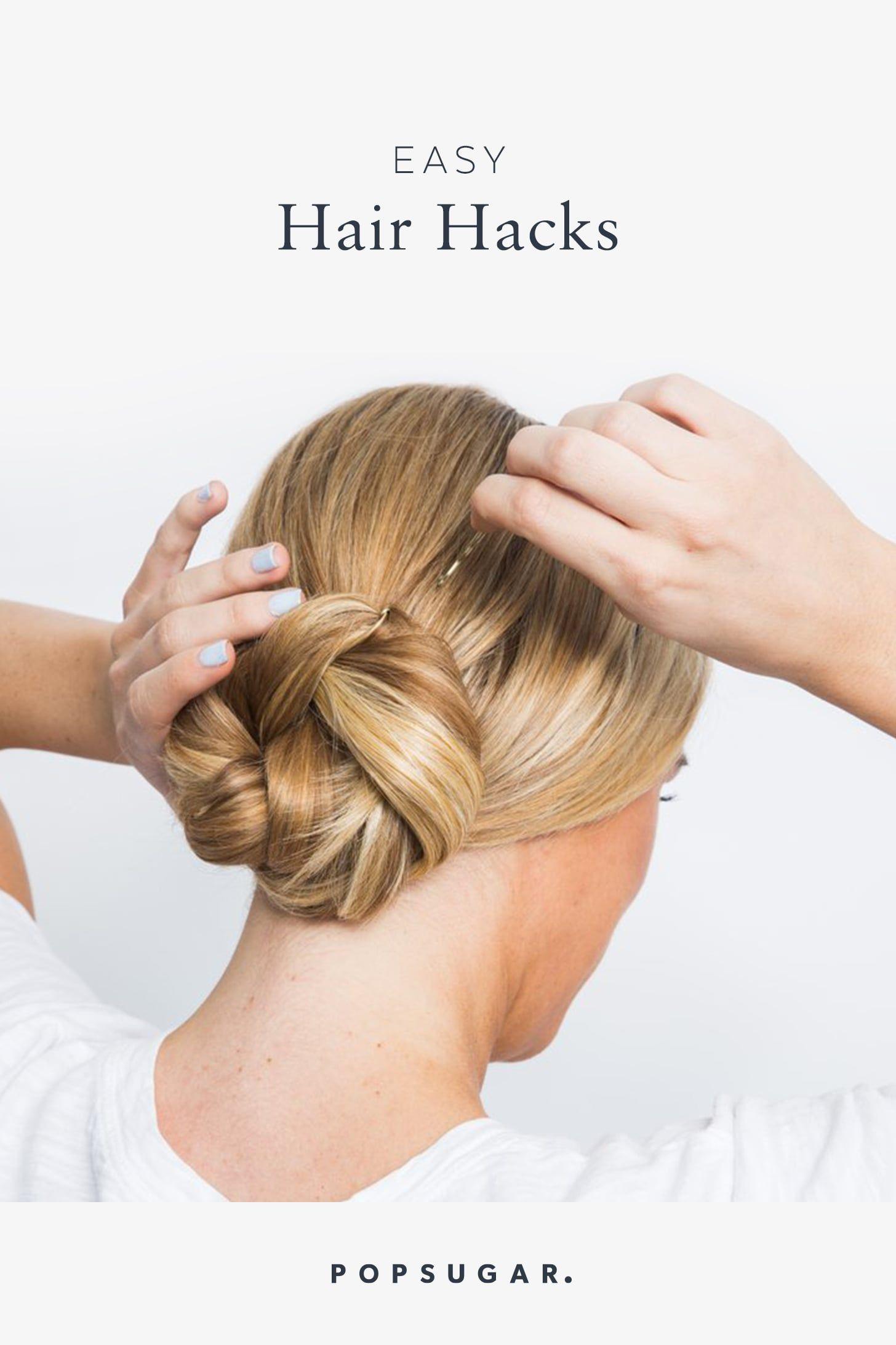 5 Easy Hair Hacks You'll Be Happy You Learned This Summer   Hair hacks, Damp hair styles, Easy ...