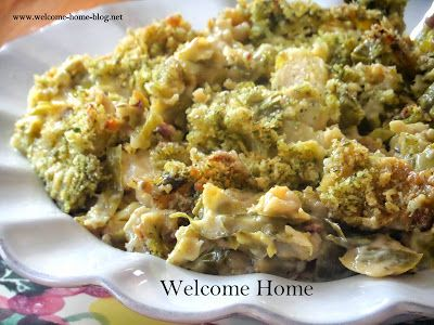 Welcome Home: ♥ Brussel Sprouts Au Gratin